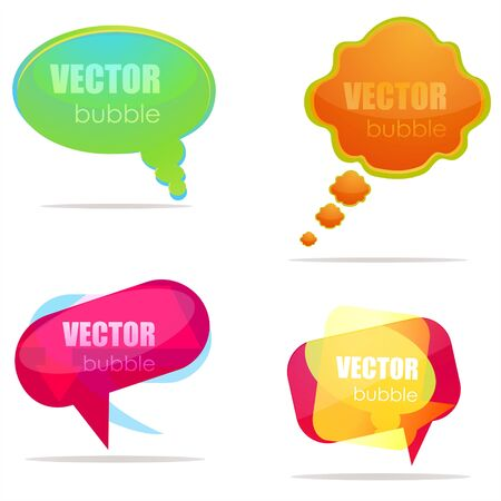 illustration of set of different speech bubbles illustration
