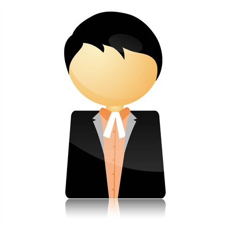 magistrate: illustration of icon of advocate on isolated white background