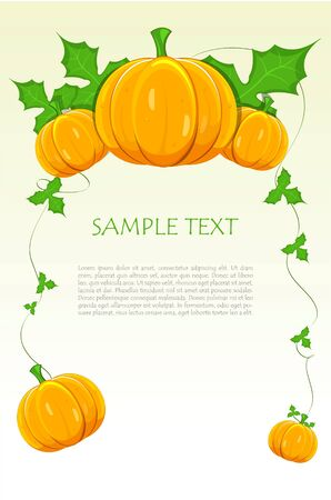 halloween pumpkin with text template Stock Photo - 7847117