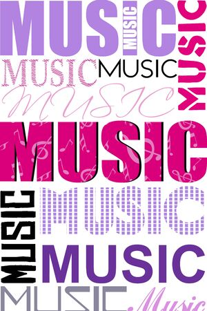 pop musician: illustration of music text cloud