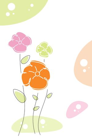 illustration of floral background with sample text Stock Illustration - 7912259