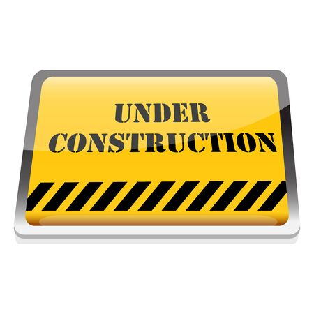 illustration of under construction board on an isolated background illustration