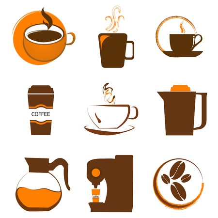 illustration of set of coffee icon Stock Illustration - 8018037
