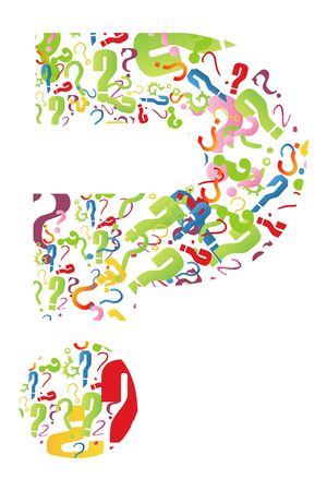 illustration of question mark formed from many question marks illustration