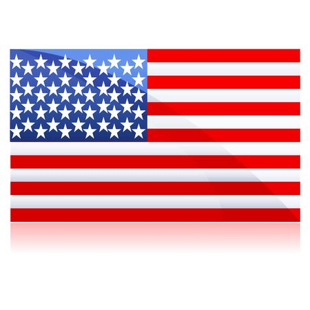 illustration of flag of united states of america on isolated background Stock Illustration - 8018036
