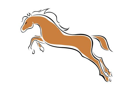 illustration of  horse on isolated background illustration