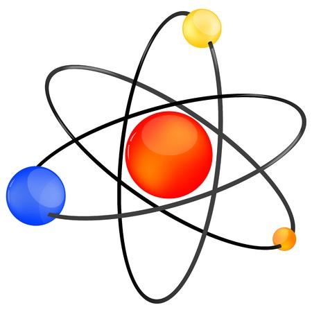 illustration of atom icon on isolated background Stock Illustration - 8018029