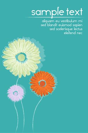 illustration of  floral background with sample text Stock Illustration - 8112561