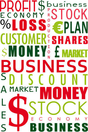 illustration of business word collage on white background Stock Illustration - 8112567