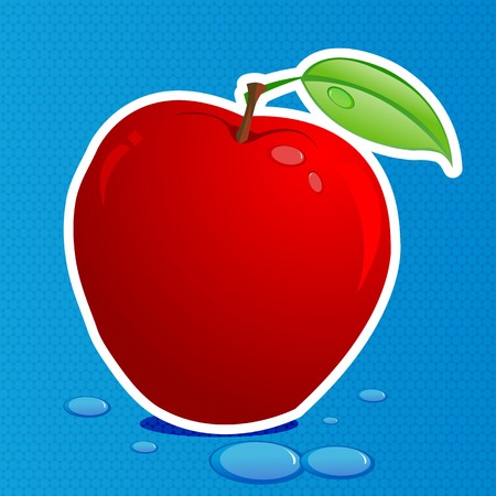 illustration of fresh apple Stock Illustration - 8112558