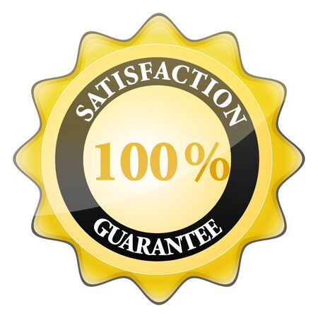 illustration of 100% satisfaction guaranteed sign Stock Illustration - 8112517