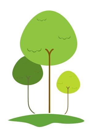 illustration of   tree on isolated background Stock Illustration - 8112339