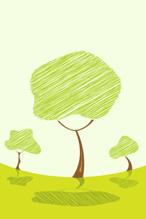 illustration of abstract  tree Stock Illustration - 8112600