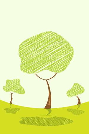 illustration of abstract  tree Stock Illustration - 8112600