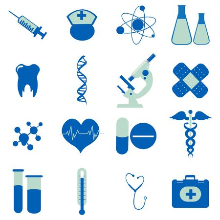 illustration of collection of medical icons Stock Illustration - 8112500