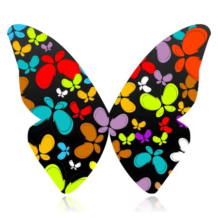 illustration of butterfly formed by several colorful butterflies Stock Illustration - 8112578