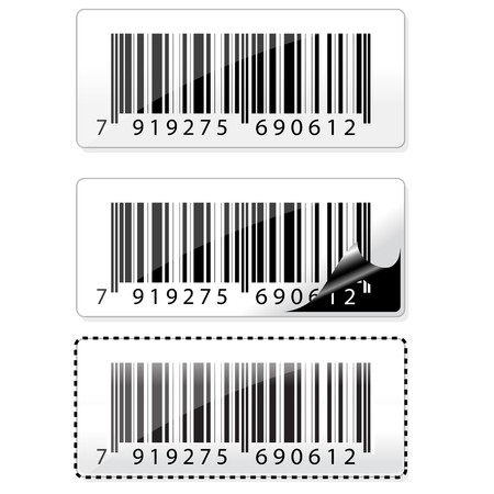 illustration of different barcode stickers Stock Illustration - 8112536