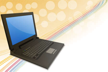 illustration of notebook on abstract background Stock Illustration - 8112579