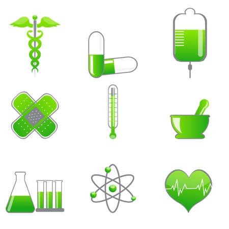 illustration of set of medical icons on isolated background Stock Illustration - 8112467