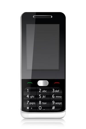 illustration of   mobile phone with isolated white background Stock Illustration - 8112408