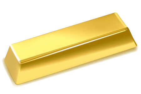 illustration of gold bar on isolated background Stock Illustration - 8112354