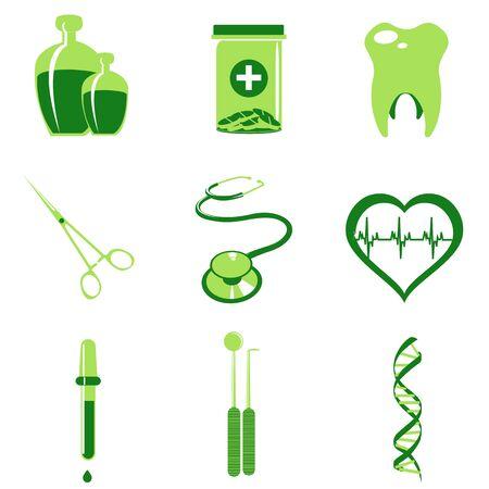 illustration of Medical icons Stock Illustration - 8112458