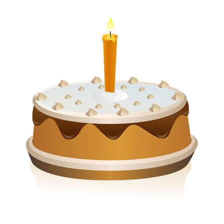 illustration of cake on isolated background Stock Illustration - 8112355