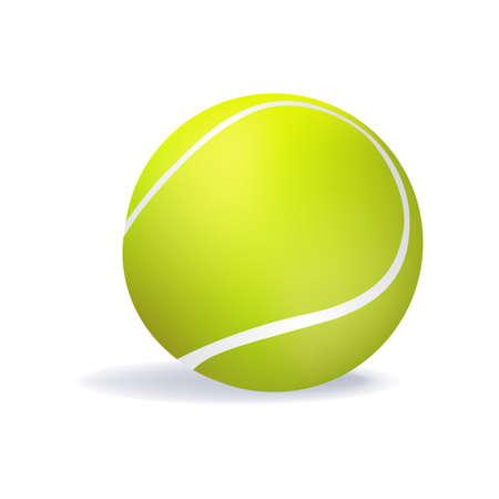 tennisball: illustration of isolated tennis ball Stock Photo