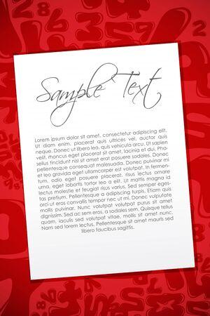 illustration of sample text on numeral background Stock Illustration - 8112586