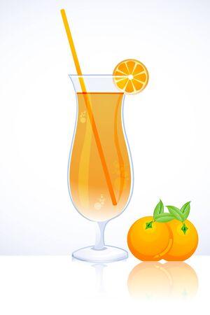 tangy: illustration of tangy orange juice Stock Photo