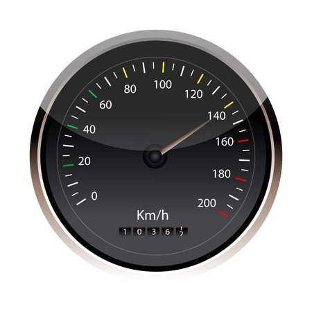 illustration of speedometer in an isolated background Stock Illustration - 8112635