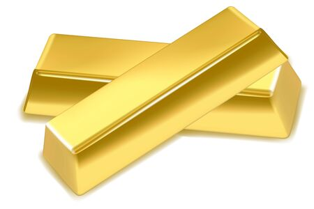 gold bar: illustration of gold bars on isolated background