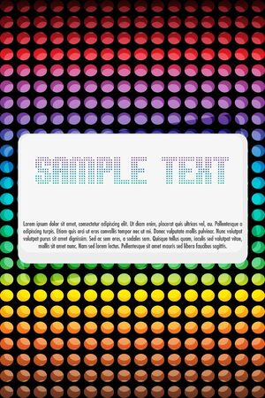 illustration of abstract  card with colorful dots Stock Illustration - 8112673