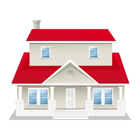 illustration of  house on an isolated background Stock Illustration - 8112680