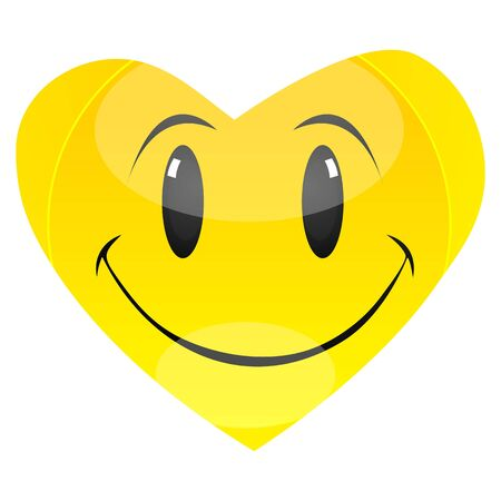 illustration of smiley in shape of heart Vector