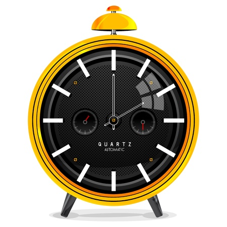illustration of alarm clock on isolated background Stock Vector - 8248065