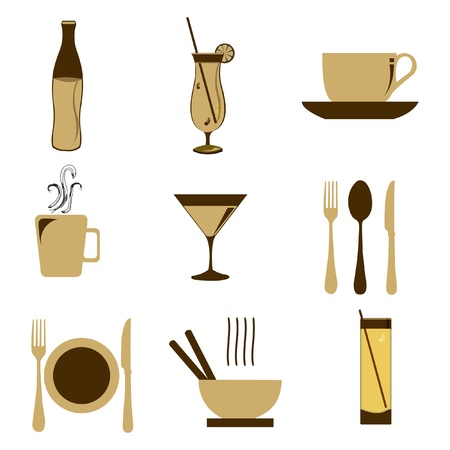 illustration of food icon on isolated background