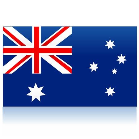 flag pole: illustration of flag of australia Illustration