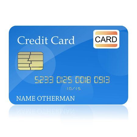 mastercard: illustration of credit card on isolated background