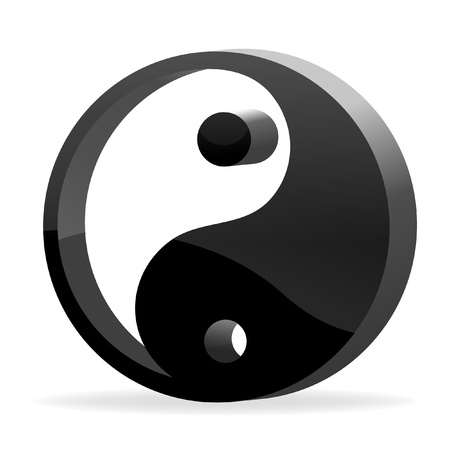 illustration of yin yang on isolated background Vector