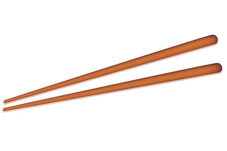 Illustration de la paire de baguette sur fond isolé
