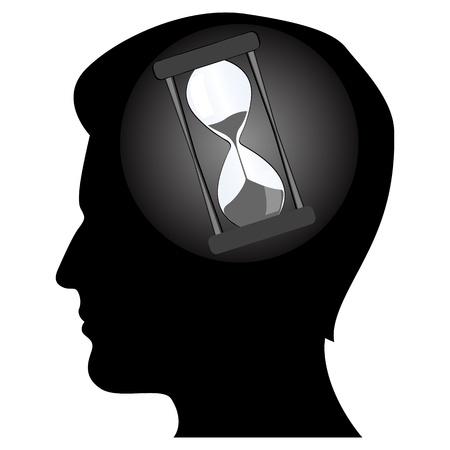illustration of mans mind Vector