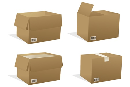 stockpile: illustration of boxes with white background