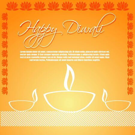 dipawali: illustration of diwali card