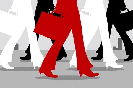 illustration of many walking feet Stock Vector - 8246923