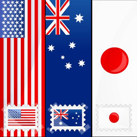 illustration of flag of different nations Stock Vector - 8247885