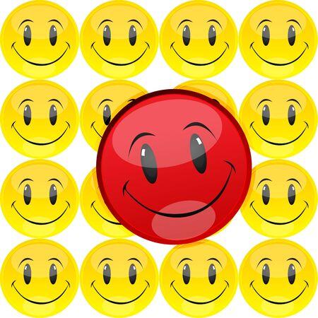 illustration of happy smiley Vector