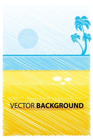 illustration of landscape in sketch look Vector