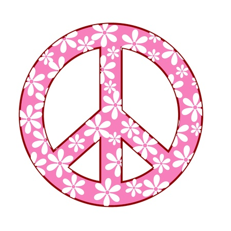 illustration of peace symbol with floral texture Stock Vector - 8247062
