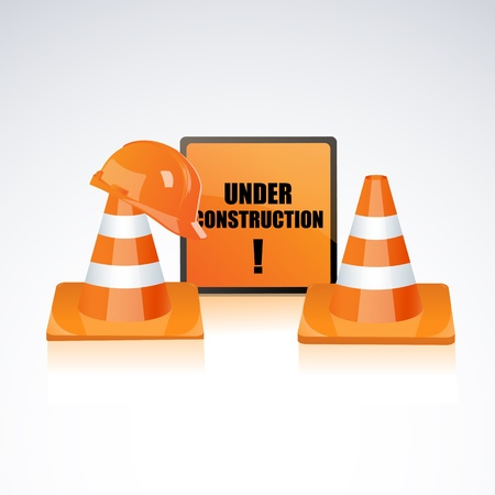 illustration of under construction element Vector